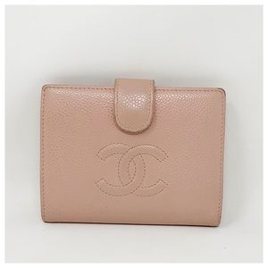 Chanel Authentic CC Caviar Leather Bifold Wallet